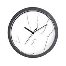 Hand Print White Large Wall Clock