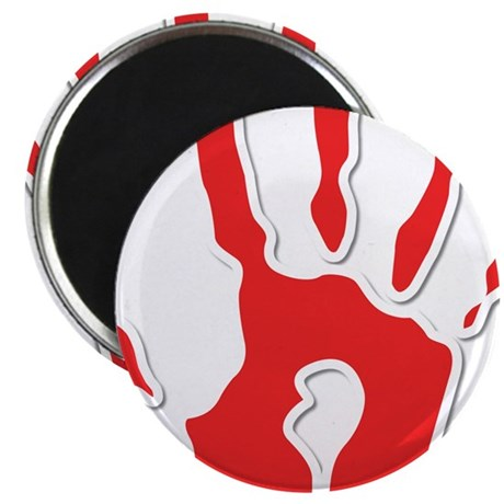 Hand Print Red Large Magnet