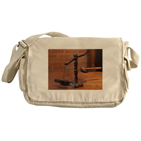 The Scale of Justice Messenger Bag