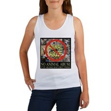 No Animal Abuse Women's Tank Top