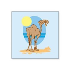 "Camel Square Sticker 3"" x 3"""