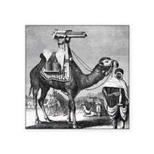 "Camel With Machine Gun Square Sticker 3"" x 3"""