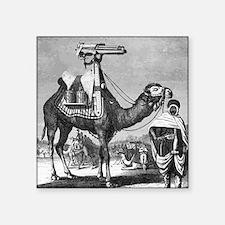 "Camel With Machine Gun Square Sticker 3"" x 3"""
