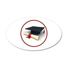 GRADUATION 22x14 Oval Wall Peel