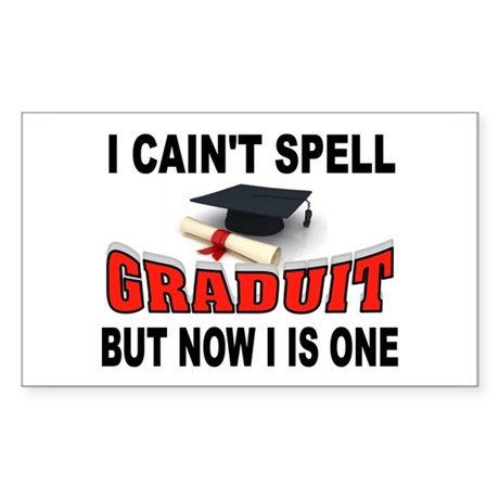 GRADUATION Sticker (Rectangle)