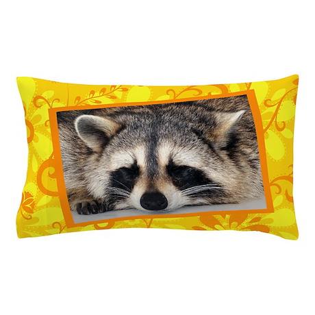 Raccoon Flower Pillow Case Pillow Case