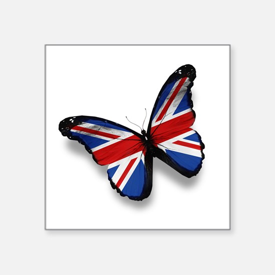 """Butterfly Square Sticker 3"""" x 3"""""""