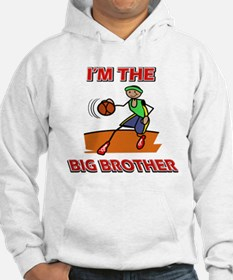 I'm the big brother Basketball Hoodie
