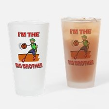 I'm the big brother Basketball Drinking Glass