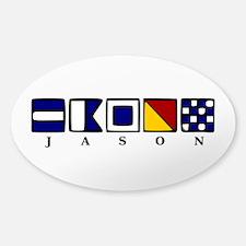 Nautical Jason Sticker (Oval)