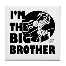 I'm the big brother Basketball Tile Coaster