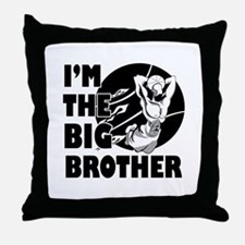 I'm the big brother Basketball Throw Pillow