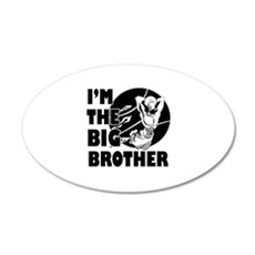 I'm the big brother Basketball 22x14 Oval Wall Pee