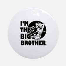 I'm the big brother Basketball Ornament (Round)