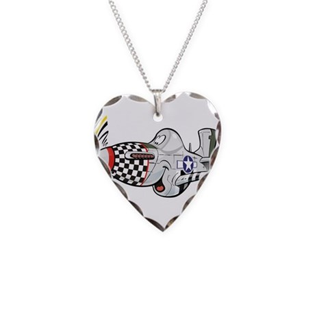 p-51 mustang.jpg Necklace Heart Charm