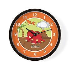 Dinosaur Triceratops Wall Clock Wall Clock