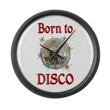 Born to Disco Large Wall Clock