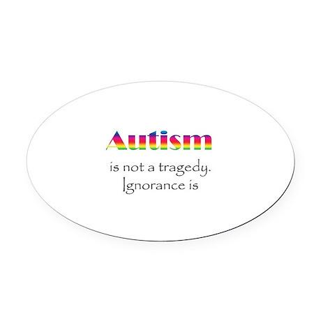 Autism Awareness! Oval Car Magnet