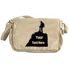 Hiking Climbing. Your Text. Messenger Bag