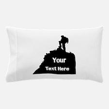 Hiking Climbing. Your Text. Pillow Case
