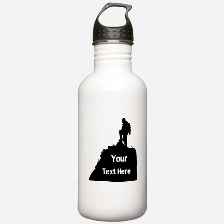 Hiking Climbing. Your Text. Water Bottle