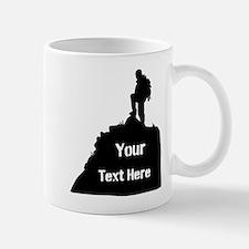 Hiking Climbing. Your Text. Mug