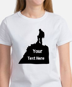 Hiking Climbing. Your Text. Tee