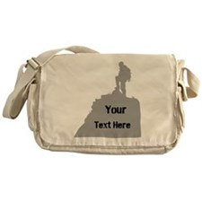 Hiking. Your Own Text. Messenger Bag