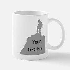 Hiking. Your Own Text. Mug