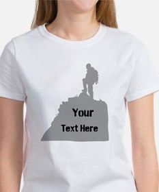 Hiking. Your Own Text. Tee