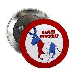 Hawaii Democrat Political Button