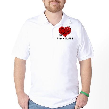 Psych Nurse Heart Golf Shirt