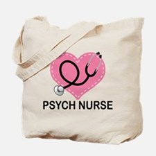 Psych Nurse Heart Tote Bag