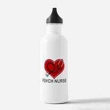 Psych Nurse Heart Water Bottle
