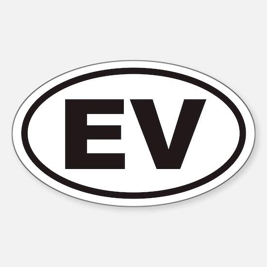 EV Electric Vehicle Euro Oval Decal