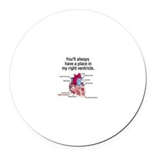 My Right Ventricle Round Car Magnet