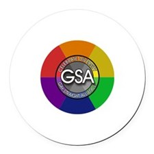 GSA Celebrate Round Car Magnet