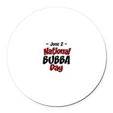 National Bubba Day Round Car Magnet