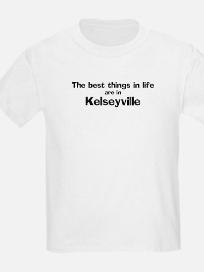 Kelseyville: Best Things Kids T-Shirt