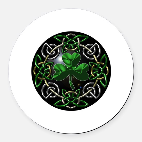 St. Patrick's Day Celtic Knot Round Car Magnet