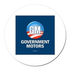 GM - Government Motors Round Car Magnet