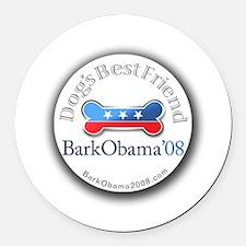 Bark Obama dog's best friend election Round Car Ma