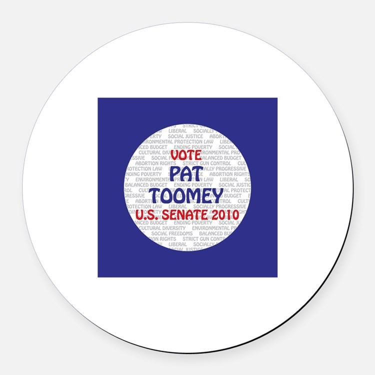 Pat Toomey Round Car Magnet