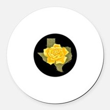 Yellow Rose of Texas Round Car Magnet