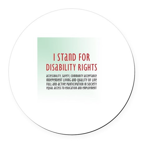 Disability Rights Round Car Magnet