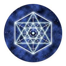 Celestial Blue Star Round Car Magnet