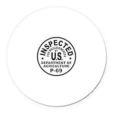 USDA Seal Round Car Magnet