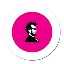 Abraham Lincoln Rocks! Round Car Magnet