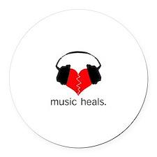 music heals Round Car Magnet