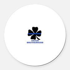 Irish Brotherhood Round Car Magnet